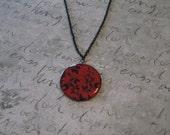Red & Black Flower Necklace