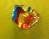 Funky Retro Colorful Ring Size 8
