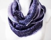 CLEARANCE Little Periwinkles Loop Circle Scarf infinity knit