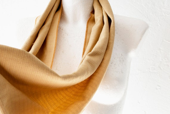 CLEARANCE Yellow Ochre Loop Circle Scarf infinity cotton