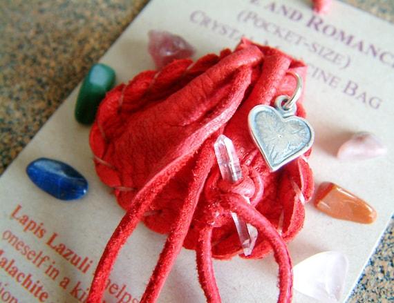 Love and Romance pocket-size Crystal Medicine Bag