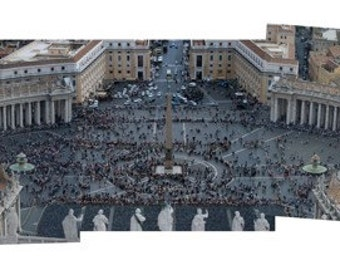 Panorama of St. Peter's Courtyard