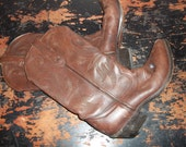 Cowboy Boots Women's Size 10 Or Mens size 8 Leather Durango