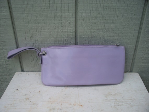 RESERVED 1990's XOXO /// Retro Genuine Leather Lavender Clutch Purse