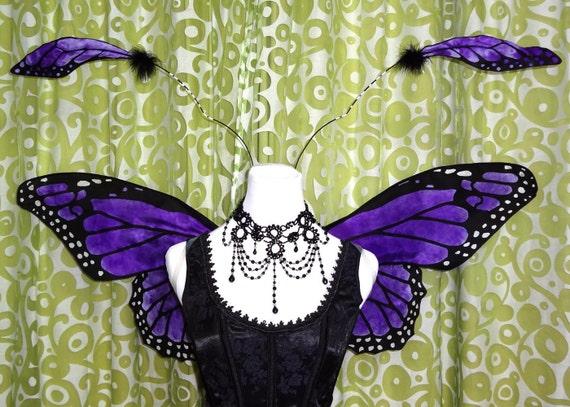 Purple Monarch Fairy Wings