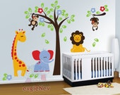 Safari Lion Wall Decal, Children Wall Decals, Kids Wall decals - PLSF010R