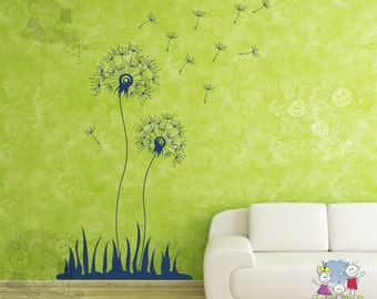 Dandelion Seeds Wall Decal -  Wall Stickers for Living Room -  Wall Decals FLDL020