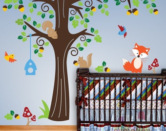 Forrest Friends Wall Stcikers - Baby Nursery Wall Stickers and Children Wall Stcikers - PLFR010R