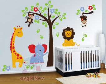 Nursery Wall Decals, Baby Wall Decal, Safari Wall Decal, Children Wall Decals, Kids Wall decals - PLSF010R