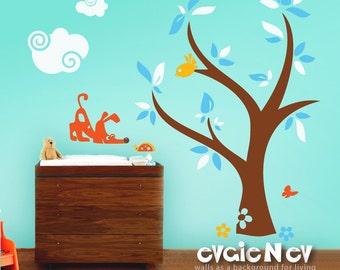 Children Wall Decal Wall Sticker - Dog, Ladybug and Tree Sticker - PLYR010L