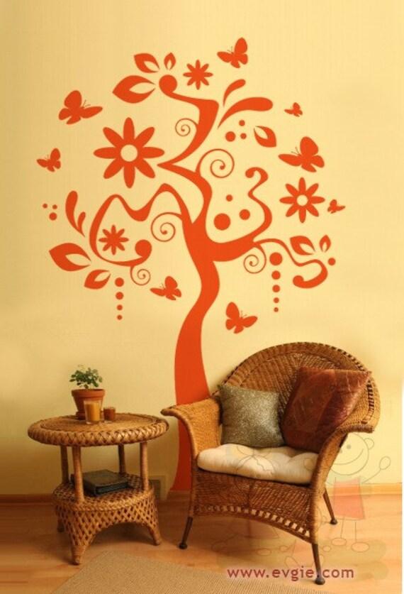 Items Similar To Art Tree Vinyl Sticker Wall Decal