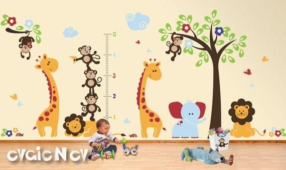 Jungle Wall Decal, Safari Wall Decal, Nursery Wall Decals, Baby Wall Decal, Children Wall Decals, Kids Wall Decals - PLSF070