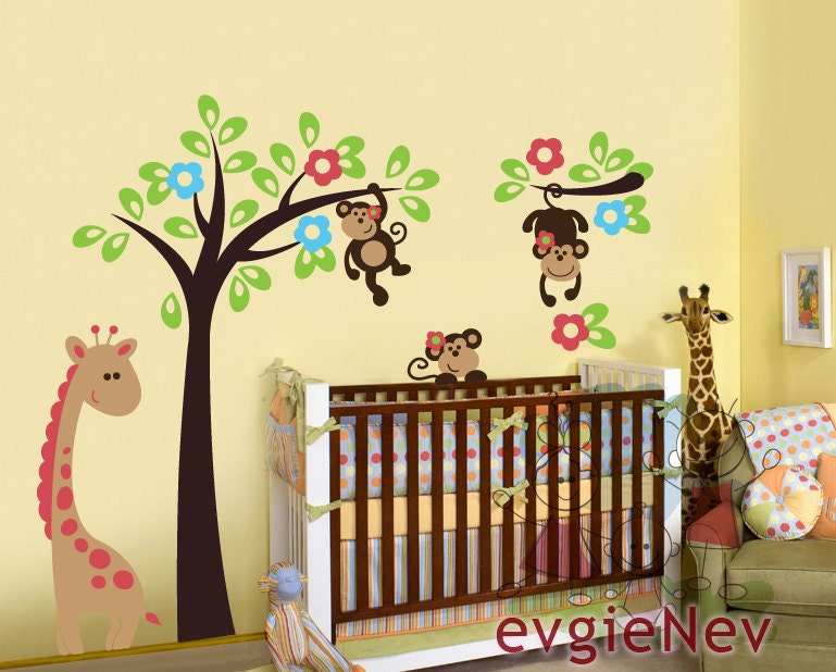 Unavailable listing on etsy - Stickers jungle chambre bebe ...