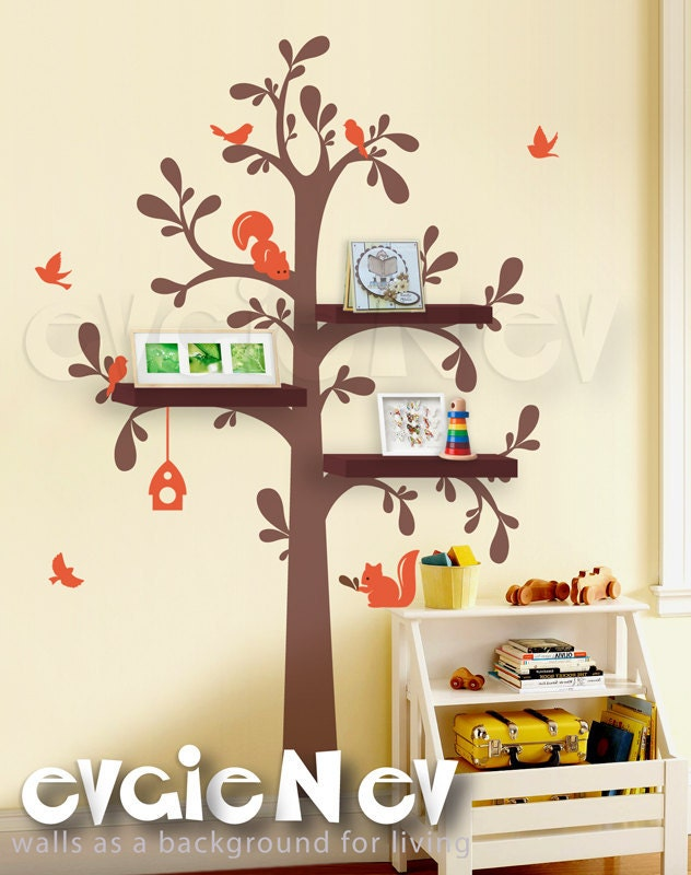 Tree Decals For Nursery With Shelves