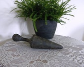 Vintage Antique Black Wooden Pestle