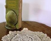 Vintage Bookends Brass Shells