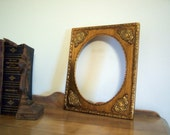 Vintage Fine Finishing Wood Frame Artist Frame Gold Ornate Scrolls Corners Fashion Apartment OVAL