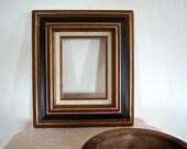 Vintage Black Gold Wood Fine Finishing Frame
