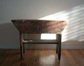 Vintage Homemade Home Decorating Wood Bench