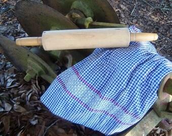 On Sale Vintage Shop Blue Gingham Red Stitch Half Apron  Online Vintage, vintage clothing, home accents, vintage dress
