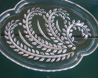 Set of 4 Federal Glass Company Depression Hospitality Snack Plates