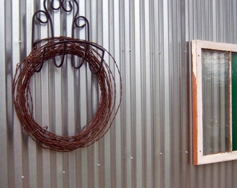 Vintage Barbed Wire Wreath Wedding Decoration Rustic Home