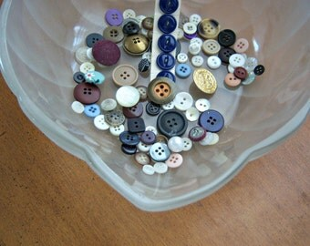 Vintage Button Collection (95) All Sizes Colors DIY Supplies Sewing Room