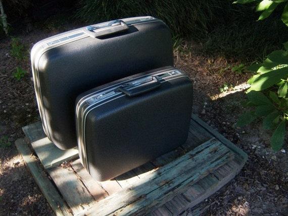 Vintage Small Charcoal Samsonite Luggage