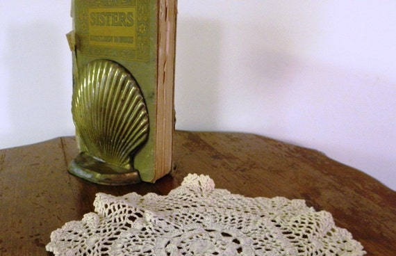 Vintage Bookends Brass Shells