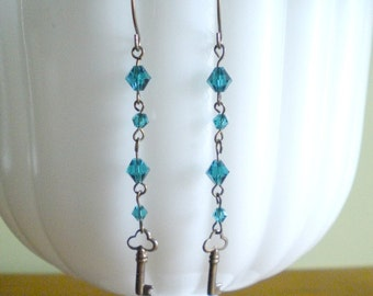 Skeleton Key  Earrings Dangle One of A Kind