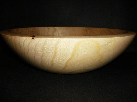 Wooden Salad Bowl - Hand Turned Elm (145)
