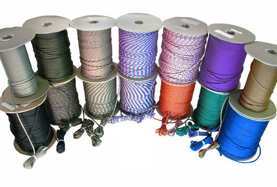 50 feet (15.25m) Paracord, Choice of Color - Type III Commercial, Made to US Mil-Spec Standards (7 Strand, 550lb Test).
