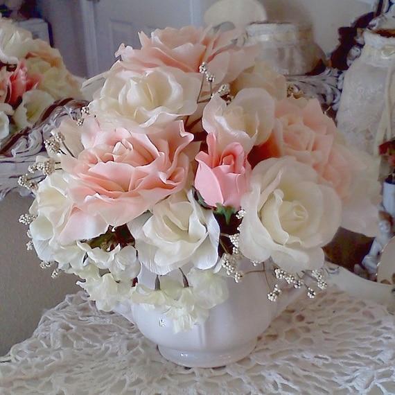 marie antoinette shabby chic rose flower arrangement ironstone. Black Bedroom Furniture Sets. Home Design Ideas