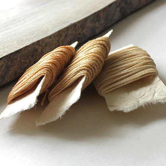 Waxed nylon cord - macrame string for jewelry or thread for leather work, 3 colors each 10 metres (11 yards), natural neutral colors
