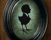 Mr Harpy silhouette 5x7 print