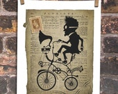 Steampunk Silhouette Fluxions Inventor bicycle