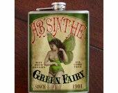 Flask - 8oz. - Absinthe - Stainless Steel