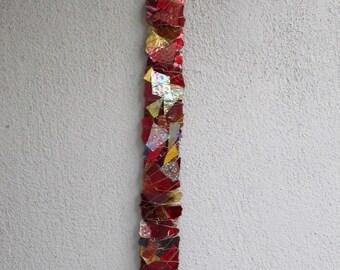 Scarlet Guardian Glass Sculpture