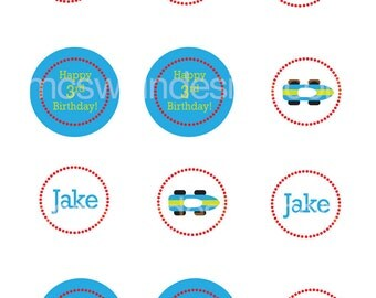 Speedy Little Race Car Party Circles - Printable PDF