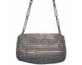 Handbag, Mister Ernest, Silver Chain Link, Brilliant, 60s