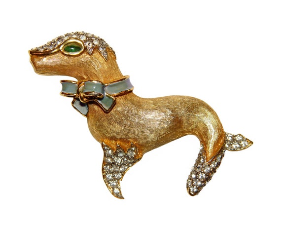 RESERVED for WEN Kenneth Lane Brooch, K.J.L., Circus Seal, Rare, Collectible, Signed, 1960s