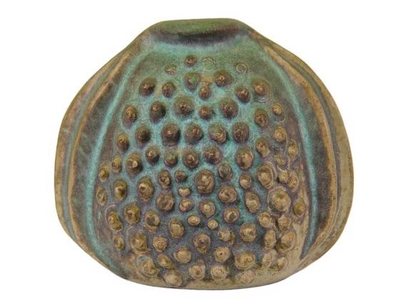 Small Antique Vase, Arts and Crafts, Glazed Stoneware, Unique Shape