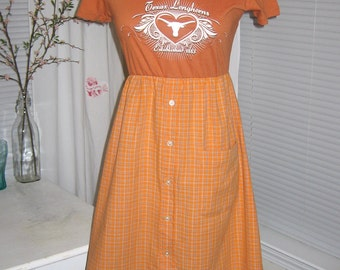 UT Texas Longhorns Game Day T Shirt Tee Dress S M