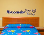 Ocean Crab Wall Decal - Personalized