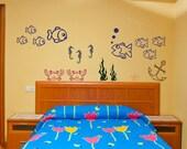 Wall Decal Ocean Life Wall Art Wall Sticker Teens Childrens Nursery Playroom Interior Wall Vinyl Decor Sunshine Decals