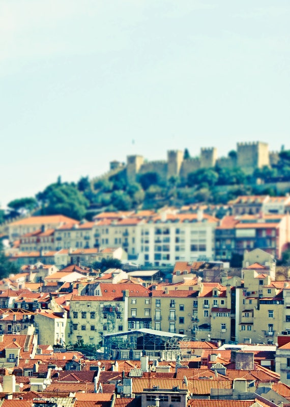 Lisbon Portugal Photo - Jeweled City - 5x7 Original Fine Art Photograph