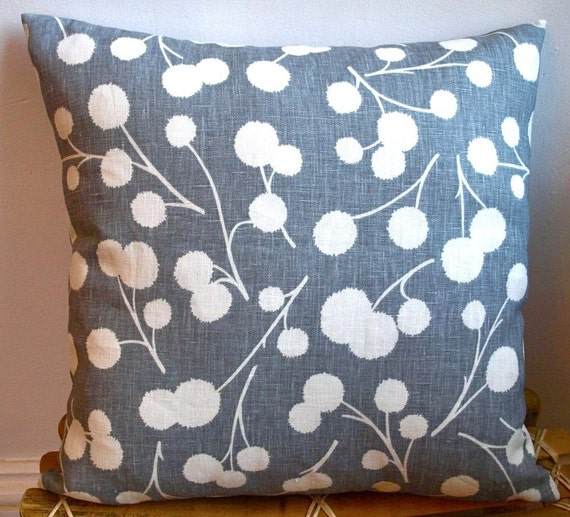 """Designer Pillow Cover / 16""""x16""""/ Thom Filicia for Kravet /Decorative Pillow /LAST ONE/ Made To Order"""