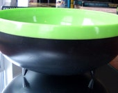 RESERVED for pdiana67 -- Vintage Reinecke Therm-o-Bowl Atomic Retro Large Footed Vivid Green