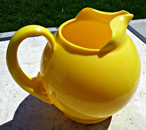 RESERVED - Vintage Sunny Yellow Pitcher - Sterilite