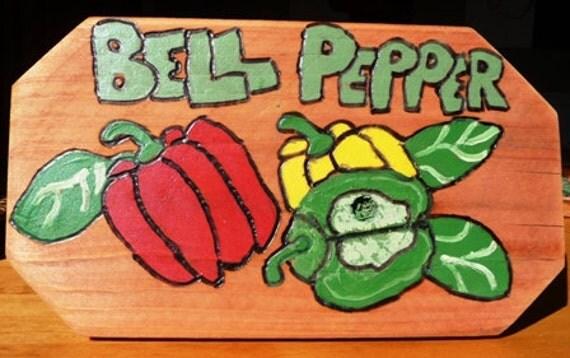 Garden Marker Fresh Mixed Bell Peppers
